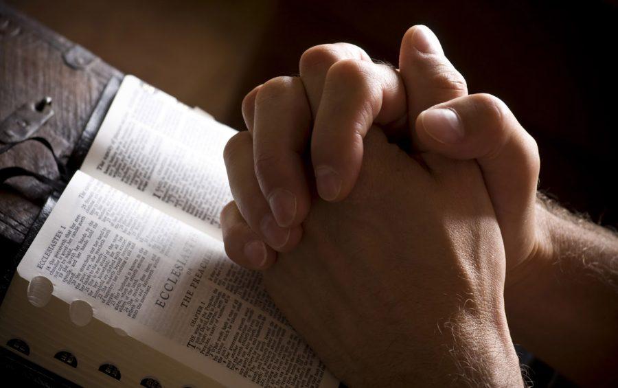 Preghiera sulla Bibbia.