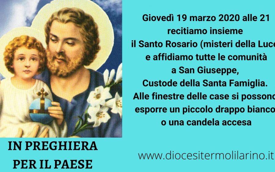 Termoli. Mons. De Luca si unisce al Rosario per l'Italia in diretta Facebook