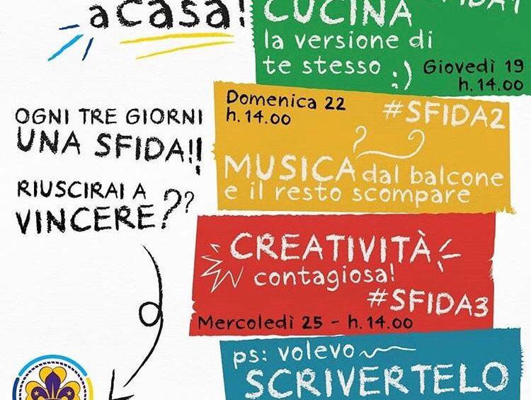 #ESTOTEACASA, l'iniziativa del Gruppo Scout di San Damiano d'Asti