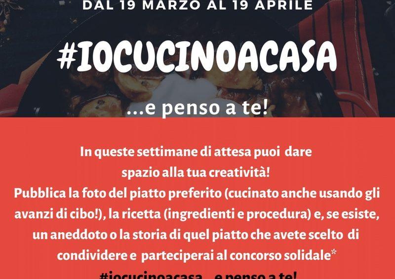 #IOCUCINOACASA…e penso a te. Iniziativa solidale della Caritas diocesana