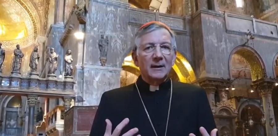 Mons. Moraglia invita alle celebrazioni della Settimana Santa in diretta dalla Basilica di San Marco