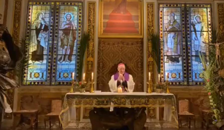 I vespri in diretta streaming dalla Cappella del Seminario