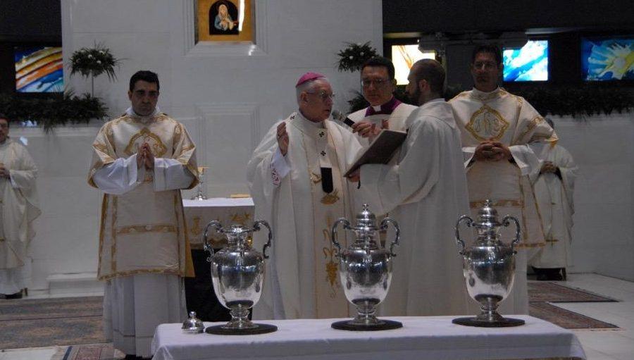 Il 30 maggio mons. Pappalardo celebra la Messa Crismale in Cattedrale