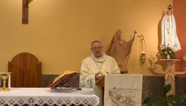 La Messa celebrata da mons. Russotto