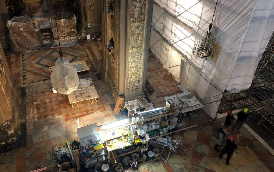 Riprendono i lavori all'interno della Cattedrale di Ferrara