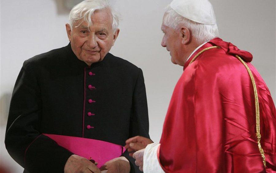 Georg  fratello di Papa Benedetto XVI e Joseph Ratzinger